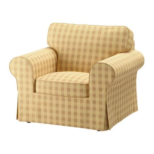Ektorp housse de fauteuil skaftarp jaune ikea for Housse de rangement ikea