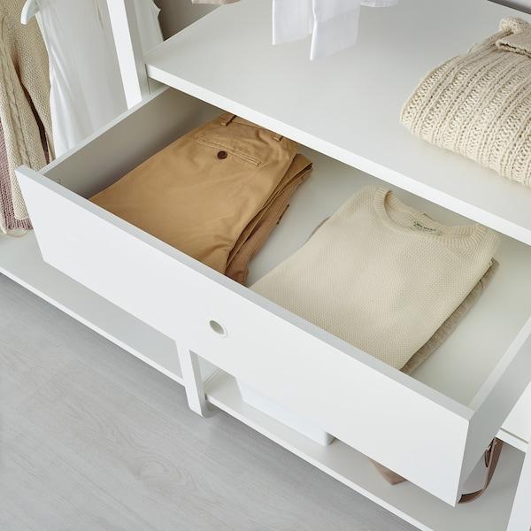 ELVARLI 4 sections, blanc, 262x51x222-350 cm