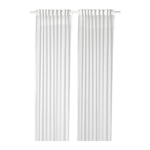 emmylina voilage 1 paire blanc fleurs 145 x 300 cm ikea. Black Bedroom Furniture Sets. Home Design Ideas