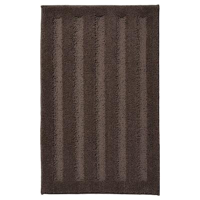 EMTEN Tapis de bain, brun foncé, 50x80 cm