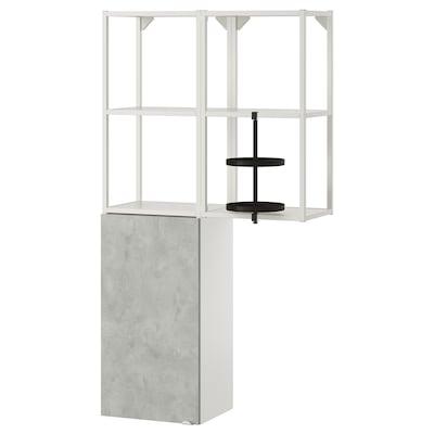 ENHET Combinaison rangement murale, blanc/imitation ciment, 80x32x150 cm