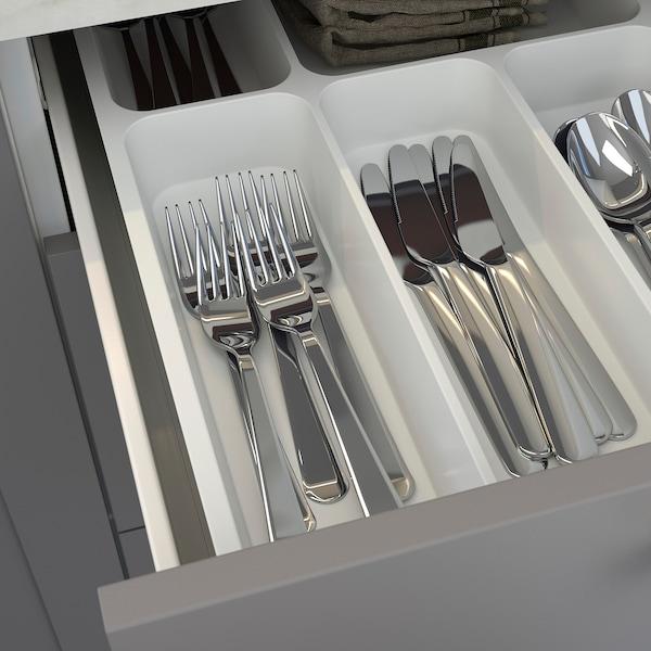 ENHET Cuisine, anthracite/gris avec cadre, 123x63.5x222 cm