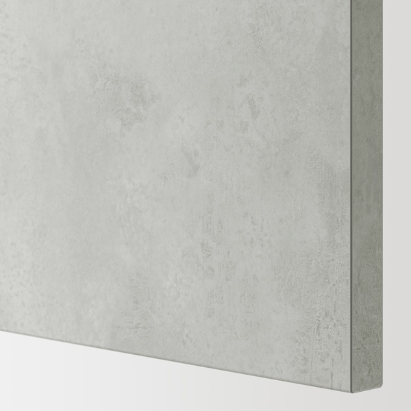 ENHET Élément mur av 2 tablettes/porte, blanc/imitation ciment, 60x30x75 cm