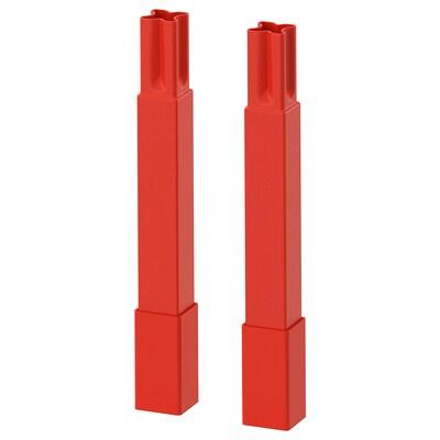 ENHET Pieds pour structure, rouge orange, 12.5 cm