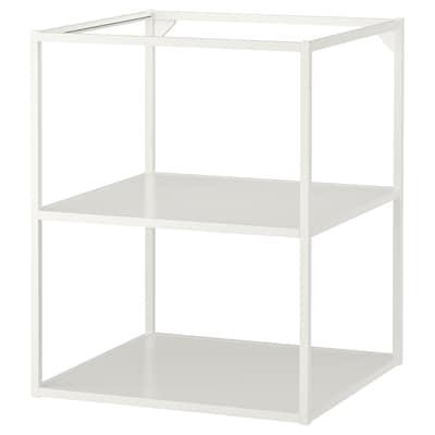 ENHET Structure basse avec étagères, blanc, 60x60x75 cm