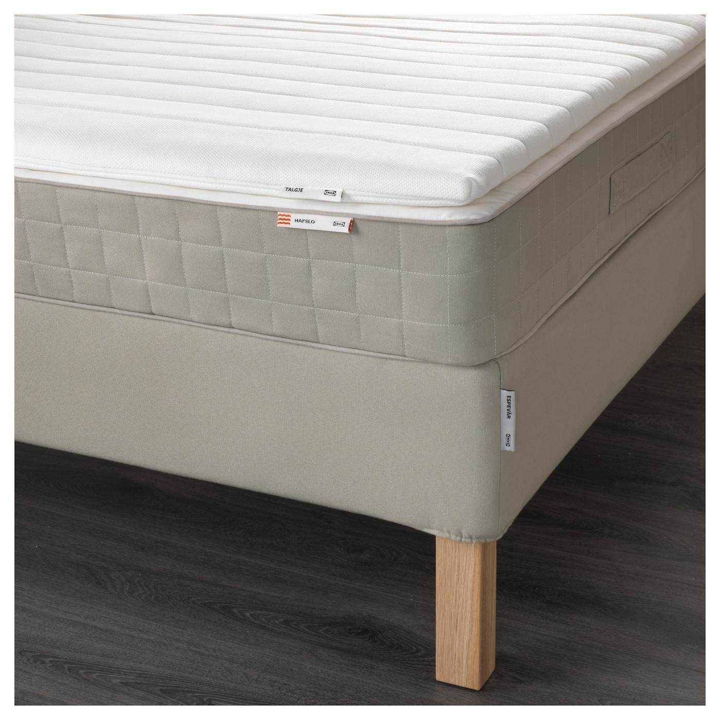 espev r lit sommier hafslo mi ferme talgje beige 160x200 cm ikea. Black Bedroom Furniture Sets. Home Design Ideas