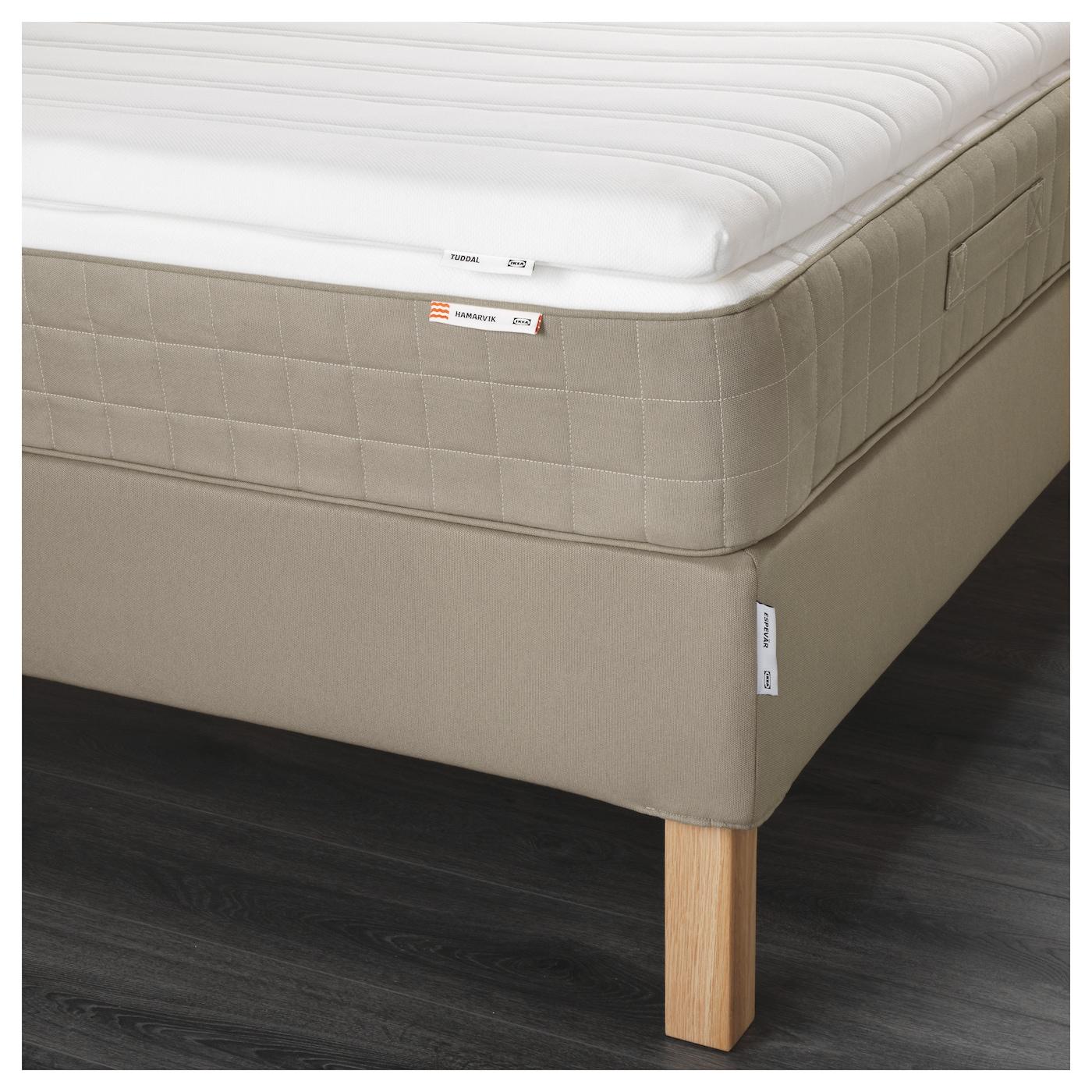 espev r lit sommier hamarvik mi ferme tuddal beige fonc. Black Bedroom Furniture Sets. Home Design Ideas