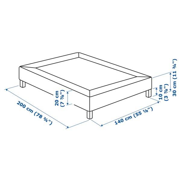 ESPEVÄR Sommier à ressorts avec pieds, blanc, 140x200 cm