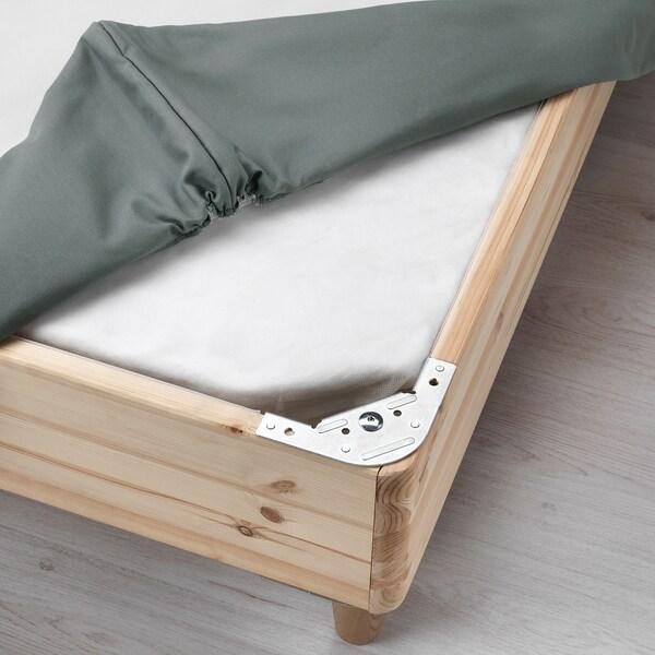 ESPEVÄR Sommier à ressorts avec pieds, gris foncé, 140x200 cm