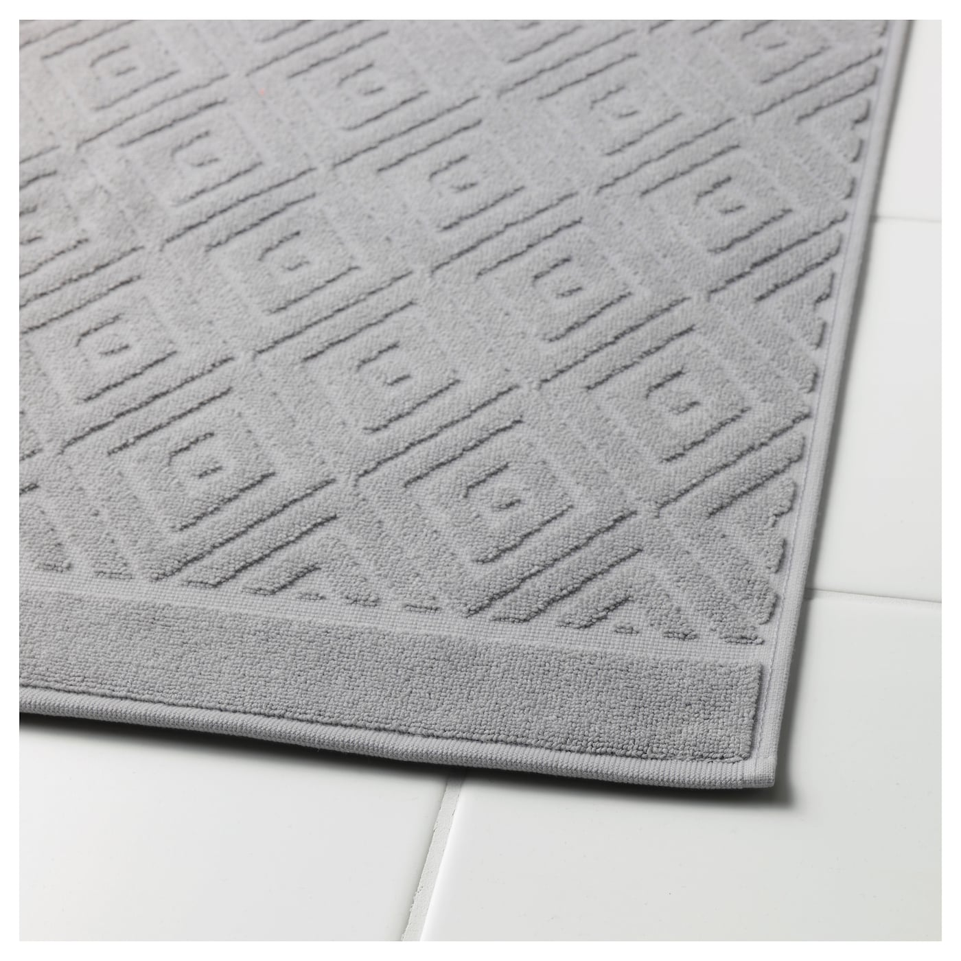 F laren tapis de bain gris moyen 50x80 cm ikea - Tapis gris ikea ...