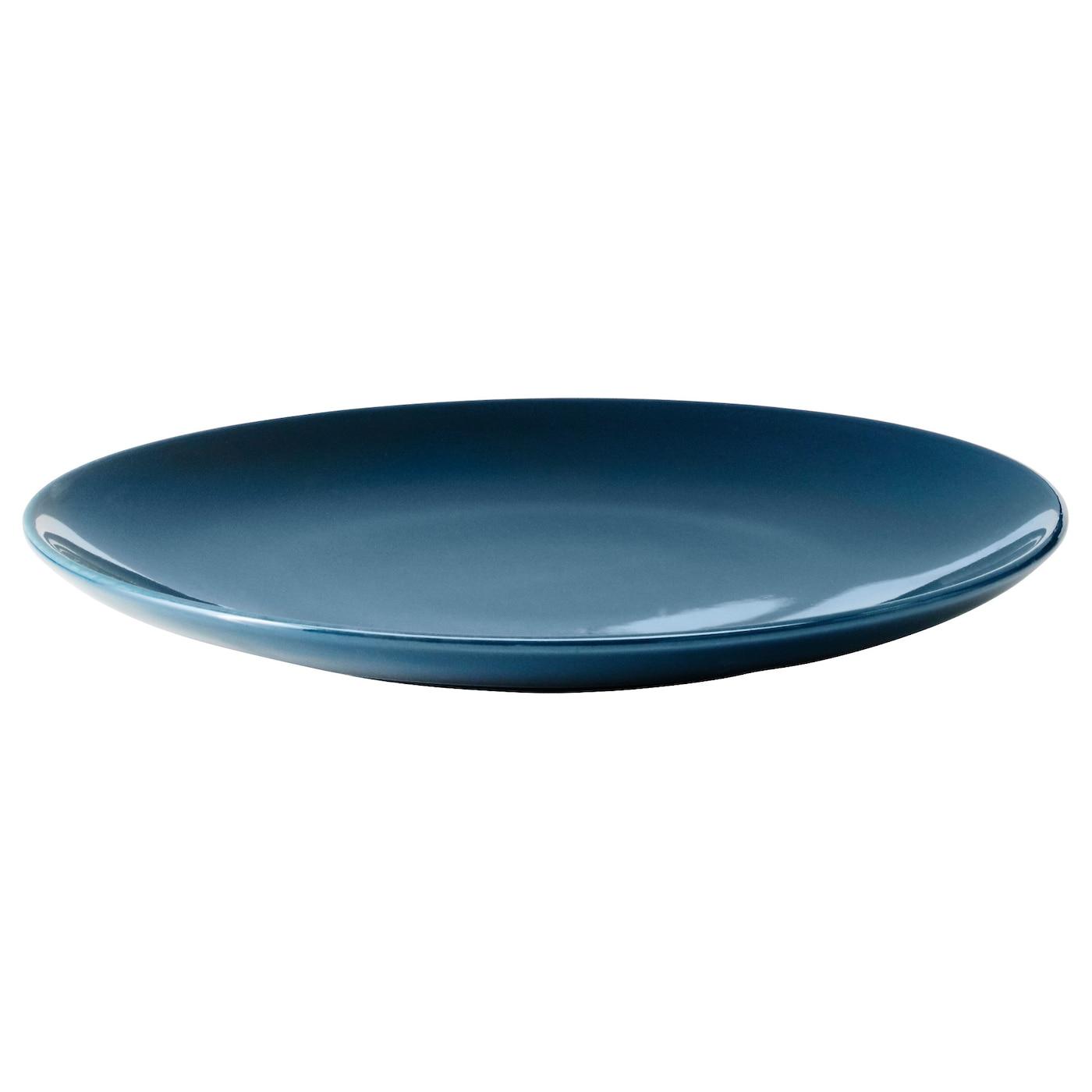f rgrik petite assiette fa ence turquoise fonc 21 cm ikea. Black Bedroom Furniture Sets. Home Design Ideas