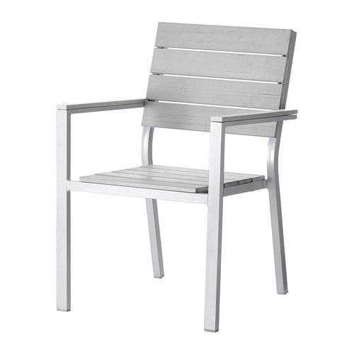 Falster chaise avec accoudoirs ext rieur gris ikea - Ikea salon exterieur ...