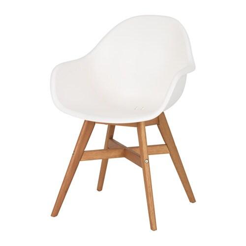 Fanbyn Chaise A Accoudoirs Blanc Ikea