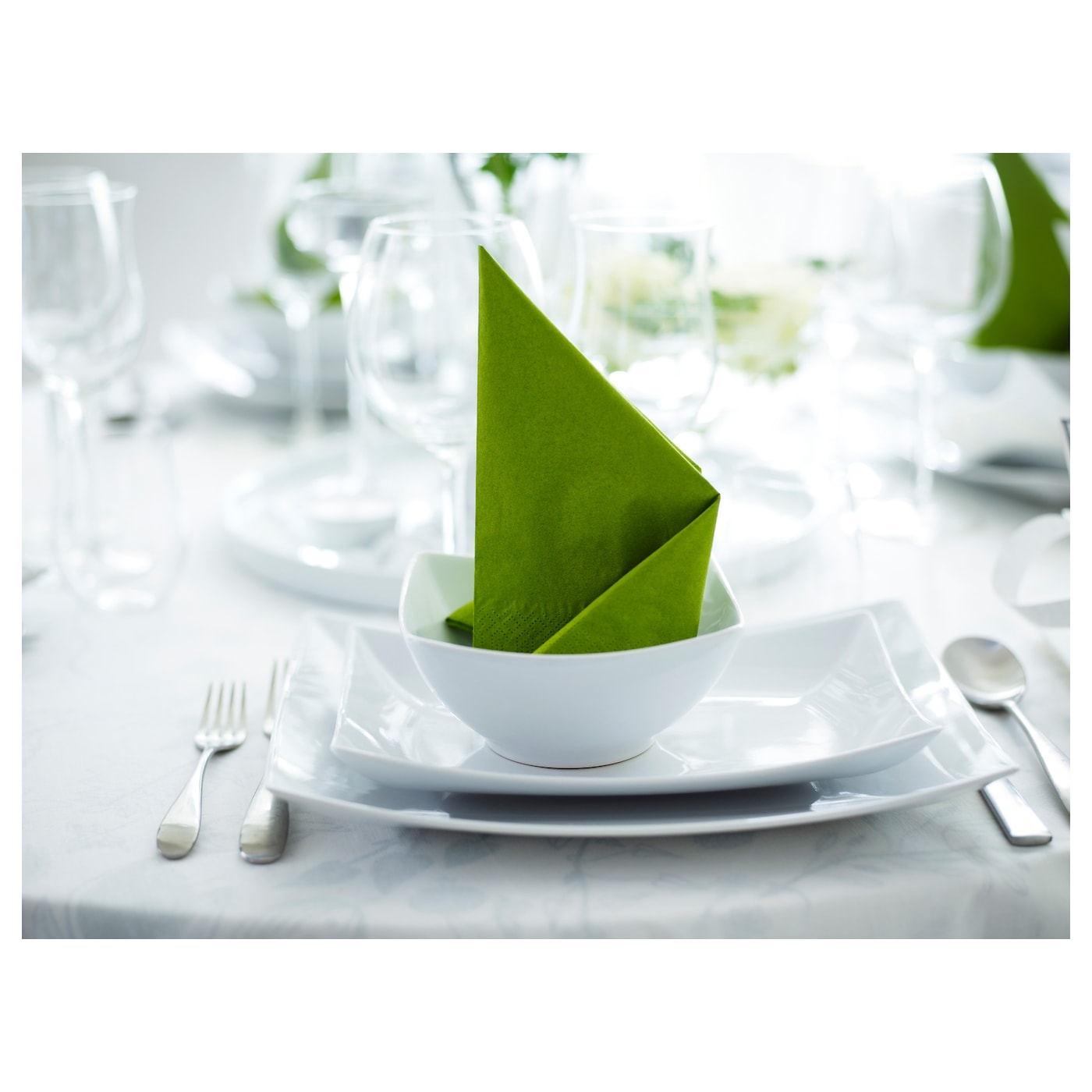 fantastisk serviettes en papier vert moyen 40 x 40 cm ikea. Black Bedroom Furniture Sets. Home Design Ideas