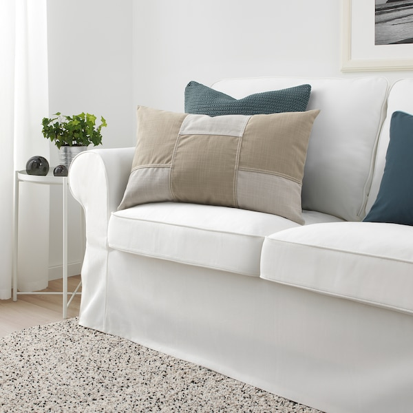FESTHOLMEN housse de coussin intérieur/extérieur/beige clair beige 40 cm 65 cm