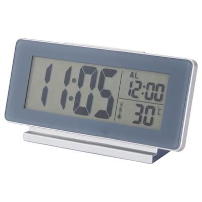 FILMIS Horloge/thermomètre/réveil, gris