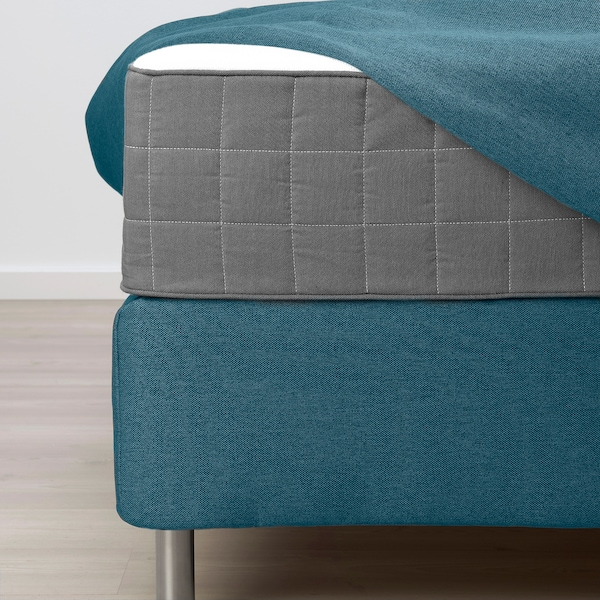 FINNSNES Lit/sommier, Hövåg ferme/mi-ferme/Tussöy bleu, 160x200 cm