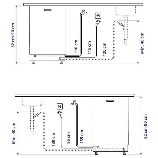 FINPUTSAD Lave-vaisselle encastrable, IKEA 700, 45 cm