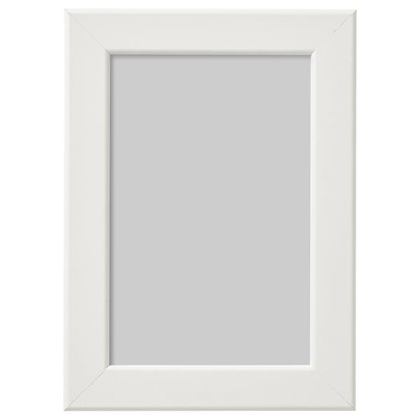 FISKBO Cadre, blanc, 10x15 cm
