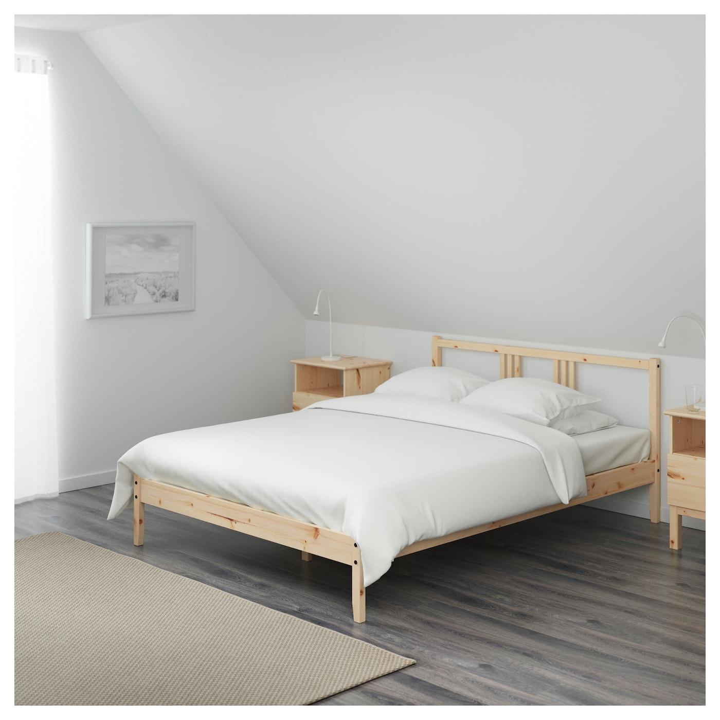 Fjellse cadre de lit pin 140x200 cm ikea for Ikea critique de lit de stockage de malm