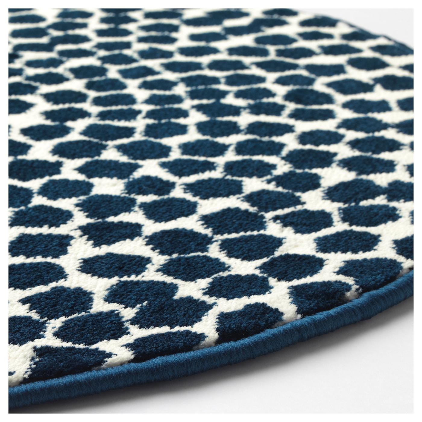 Fl ng tapis poils ras blanc bleu fonc 80 cm ikea - Tapis bleu marine ikea ...