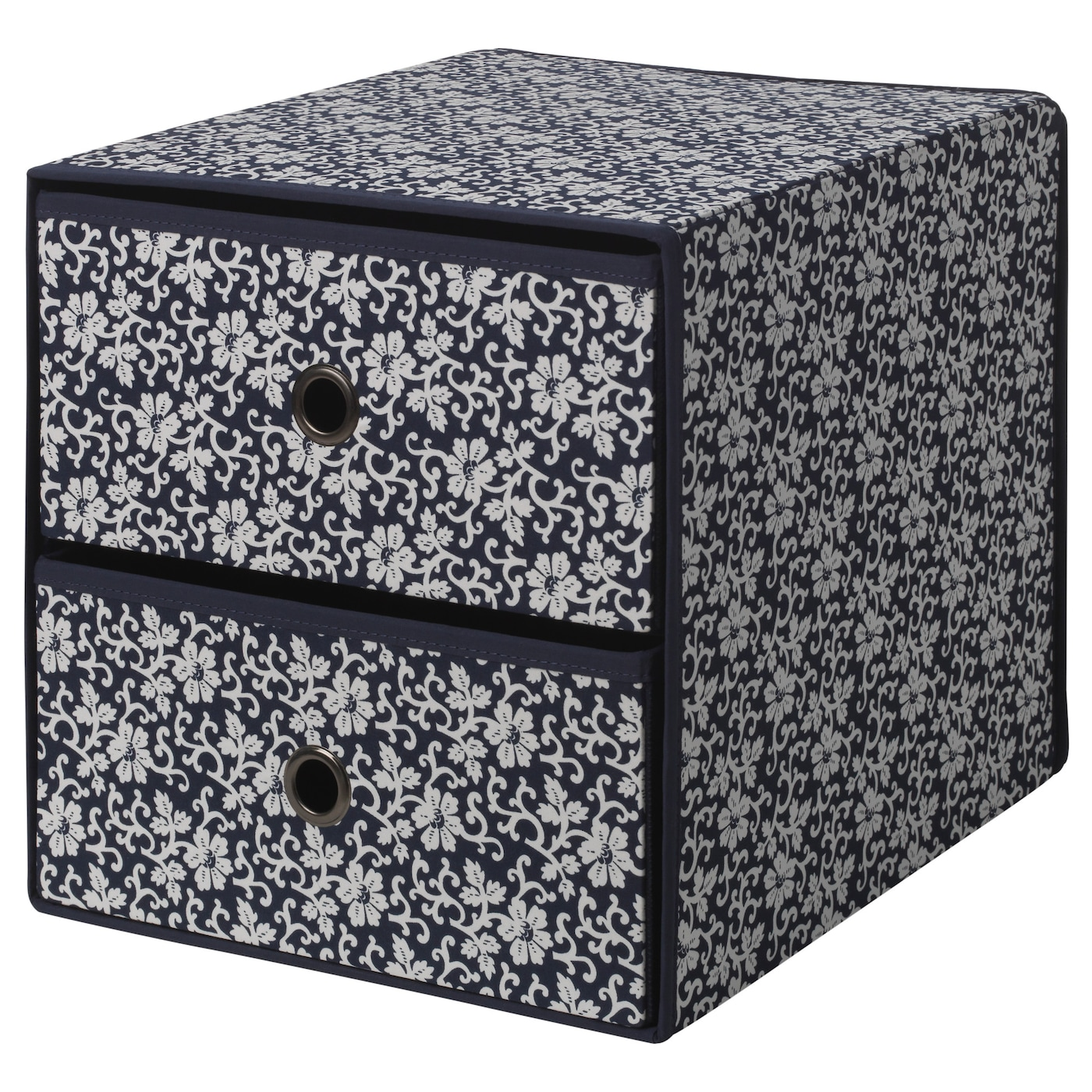 flarra mini commode 2 tiroirs bleu motif floral 33x38 cm ikea. Black Bedroom Furniture Sets. Home Design Ideas