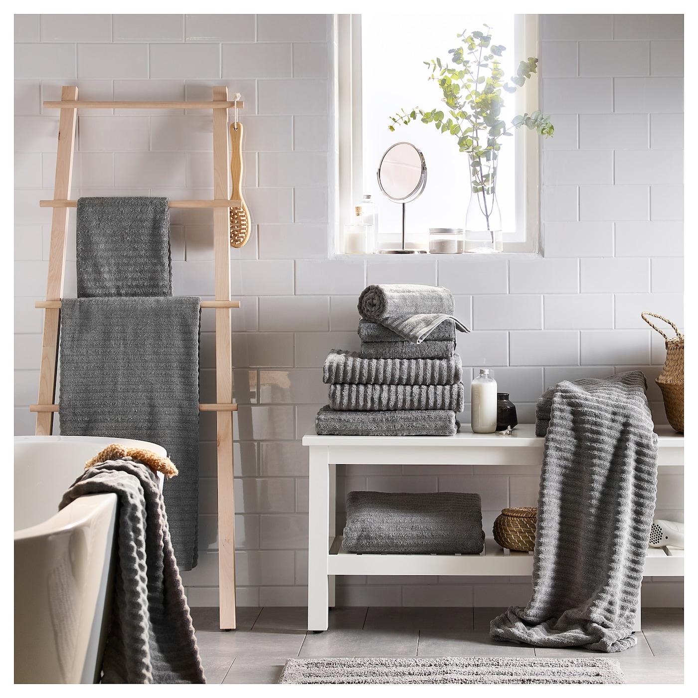 flodalen drap de bain gris 70 x 140 cm ikea. Black Bedroom Furniture Sets. Home Design Ideas