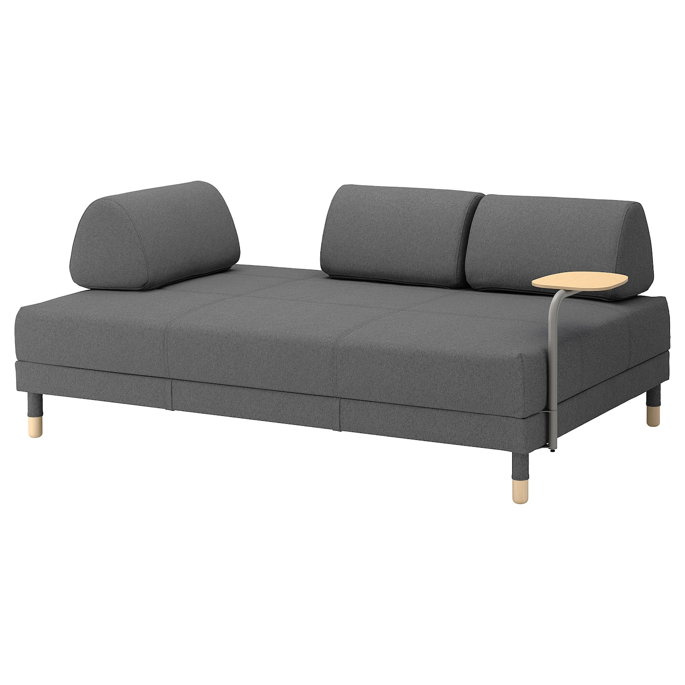 flottebo canap lit 3 places lysed gris fonc 120 cm ikea. Black Bedroom Furniture Sets. Home Design Ideas