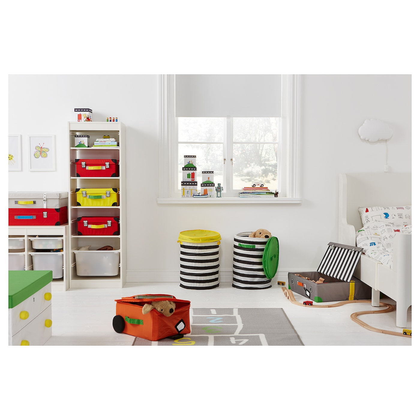 flyttbar coffre jouets rouge 35x25x15 cm ikea. Black Bedroom Furniture Sets. Home Design Ideas