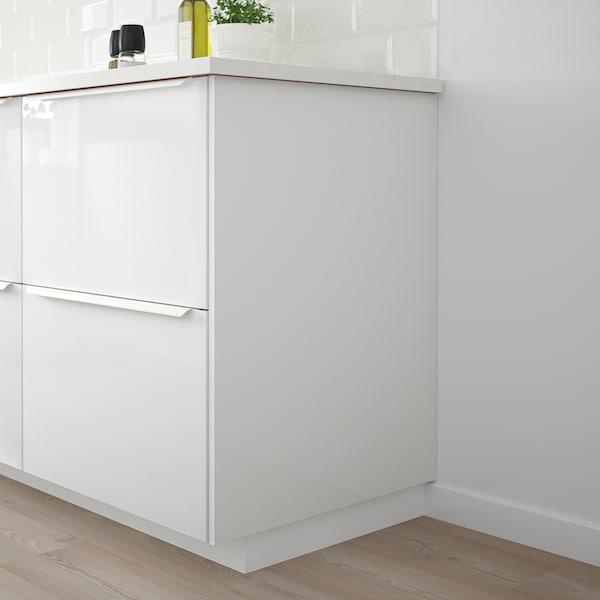 FÖRBÄTTRA Panneau latéral de finition, brillant blanc, 39x240 cm