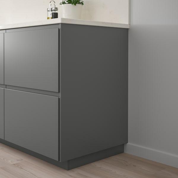FÖRBÄTTRA Panneau latéral de finition, gris foncé, 39x240 cm