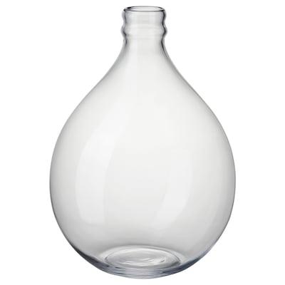 FRAMPRESSA Vase, verre transparent, 40 cm