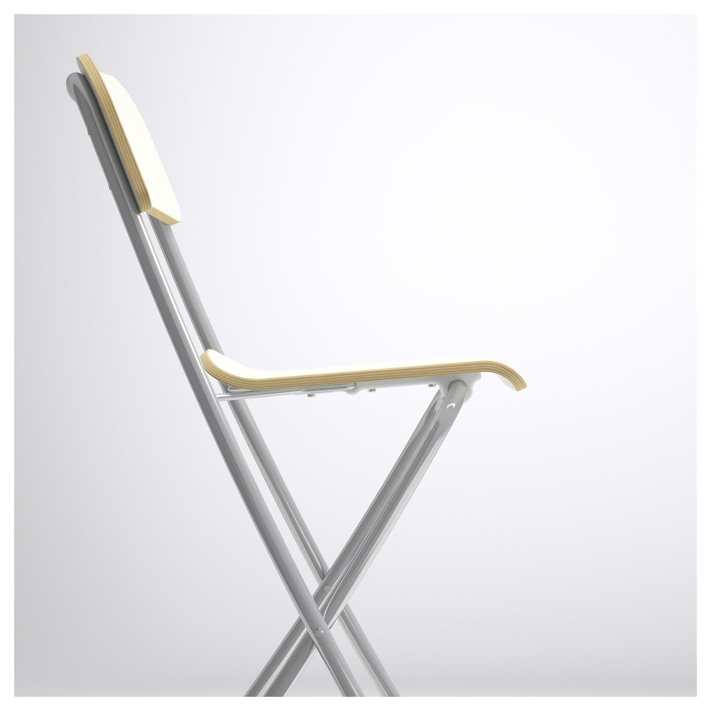 franklin tabouret de bar dossier pliant blanc couleur argent 63 cm ikea. Black Bedroom Furniture Sets. Home Design Ideas