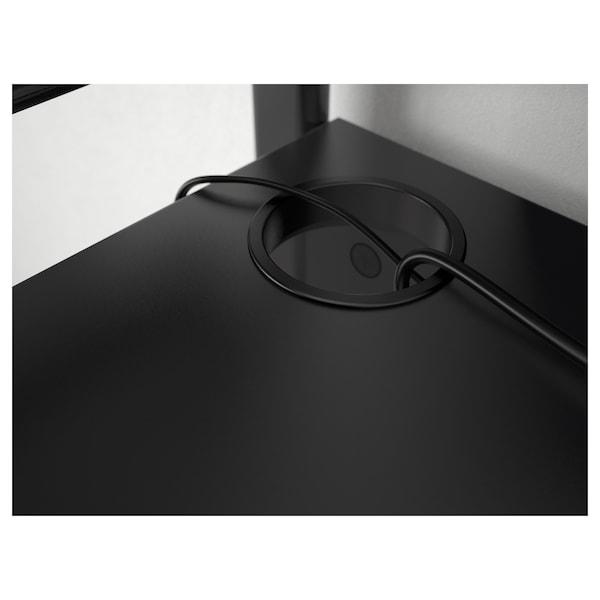 FREDDE Bureau, noir, 185x74x146 cm