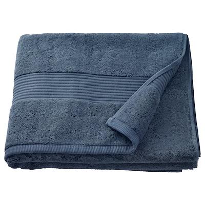 FREDRIKSJÖN Drap de bain, bleu foncé, 70x140 cm