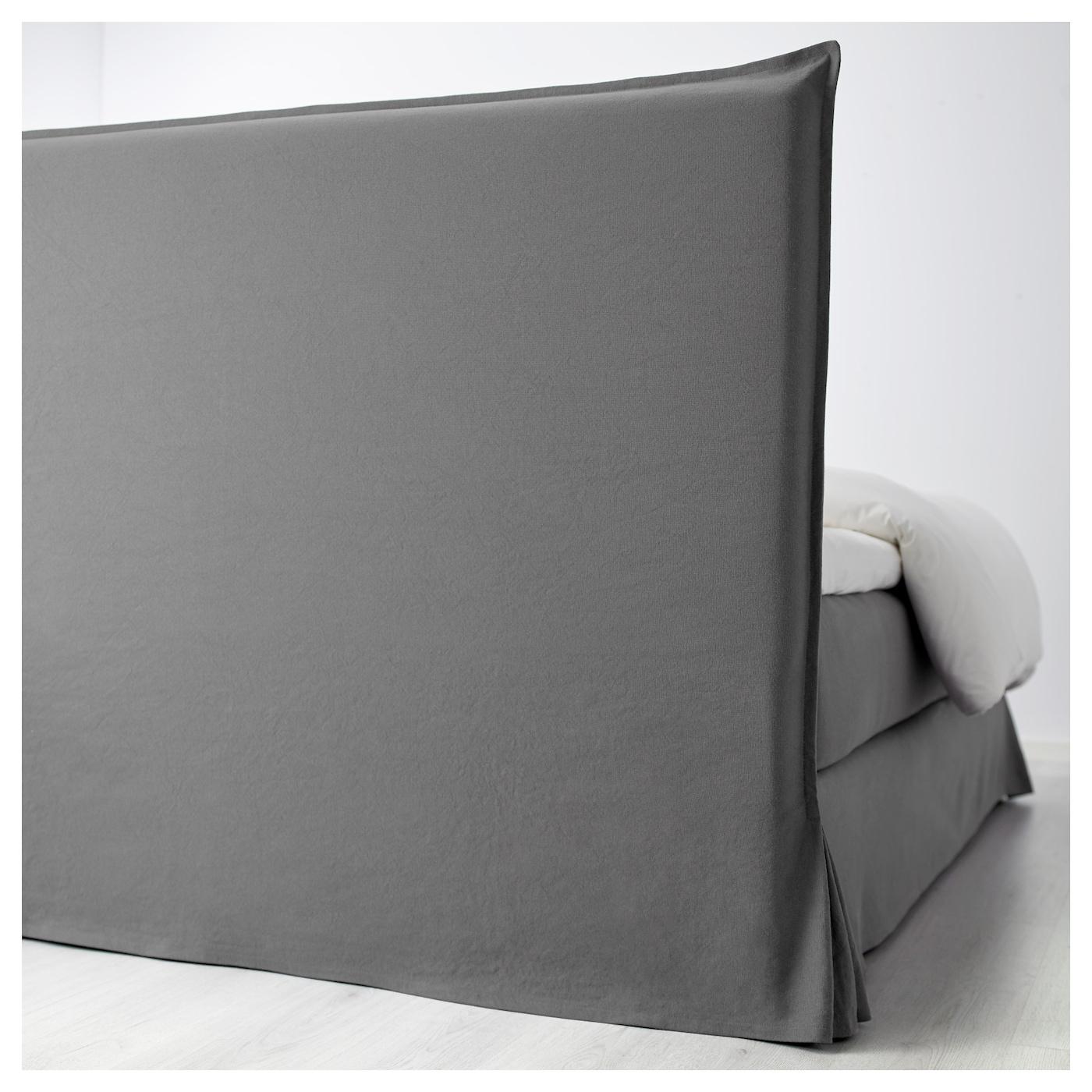 fresvik lit sommier hyllestad mi ferme tustna gris 160x200 cm ikea. Black Bedroom Furniture Sets. Home Design Ideas