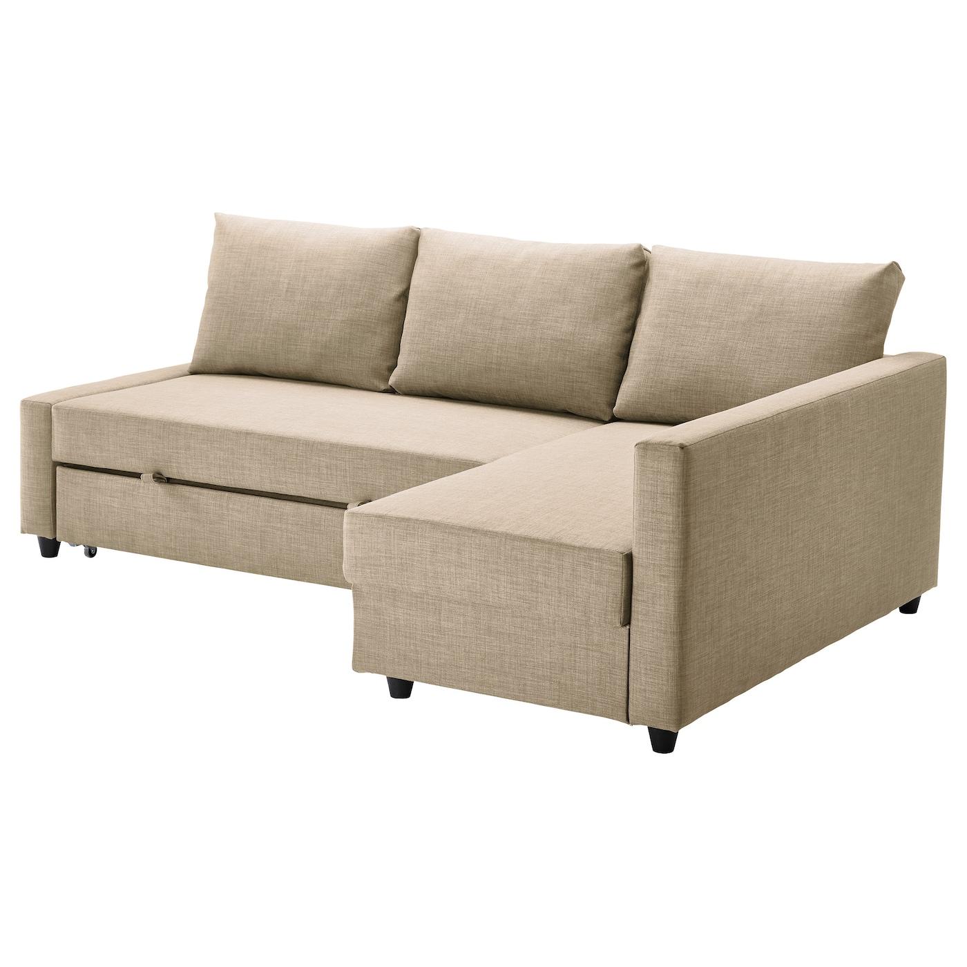 friheten canapé conv d'angle avec rangement skiftebo beige - ikea