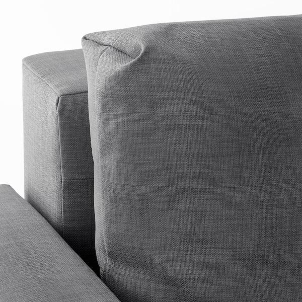 FRIHETEN Canapé convertible angle+rangement, avec coussins de dossier supp/Skiftebo gris foncé