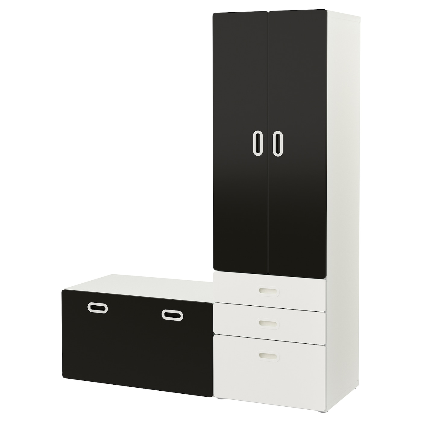 fritids stuva armoire avec banc de rangement blanc surface tableau noir 150 x 50 x 192 cm ikea. Black Bedroom Furniture Sets. Home Design Ideas