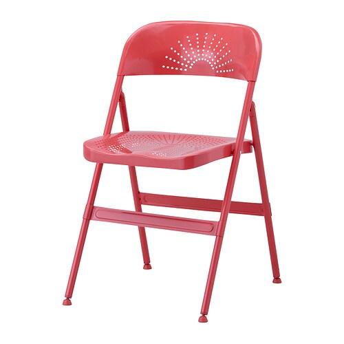 Frode chaise pliante rouge ikea for Chaise qui ne prend pas de place