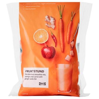 FRUKTSTUND Mélange smoothie prémixé, orange/carotte au gingembre et au piment/surgelé, 420 g