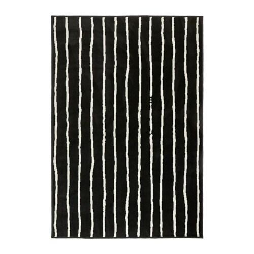 Görlöse Tapis Poils Ras Noir Blanc 133 X 195 Cm Ikea