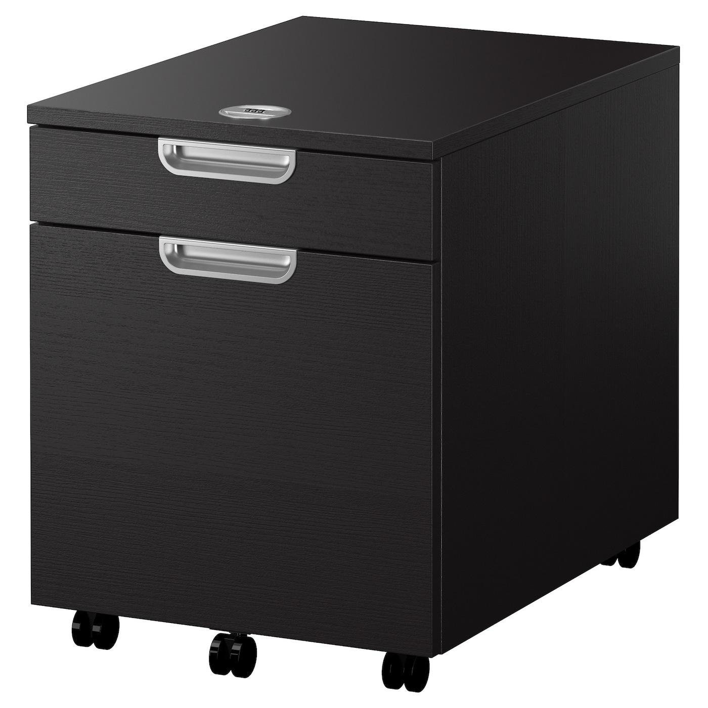 galant caisson dossiers suspendus brun noir 45x55 cm ikea. Black Bedroom Furniture Sets. Home Design Ideas