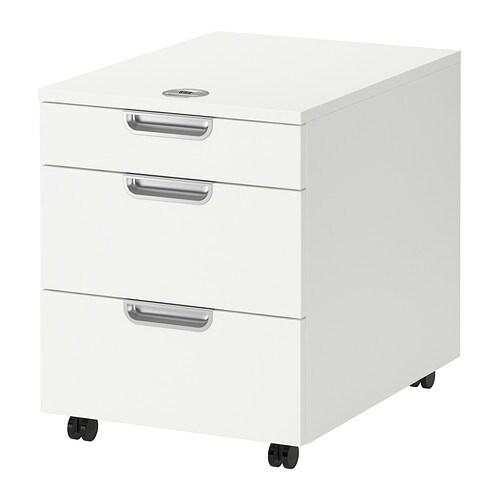 galant caisson tiroirs sur roulettes blanc 45x55 cm ikea. Black Bedroom Furniture Sets. Home Design Ideas