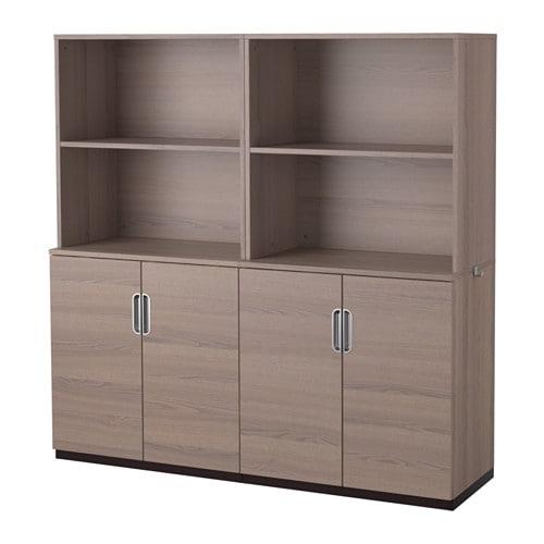 galant combinaison rangement portes gris 160x160 cm ikea. Black Bedroom Furniture Sets. Home Design Ideas