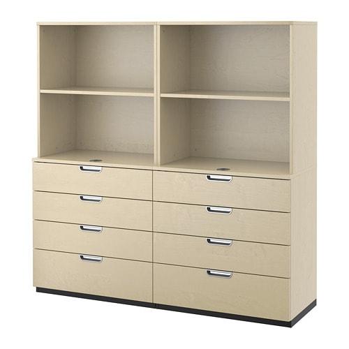 galant combinaison rangement tiroirs plaqu bouleau 160x160 cm ikea. Black Bedroom Furniture Sets. Home Design Ideas