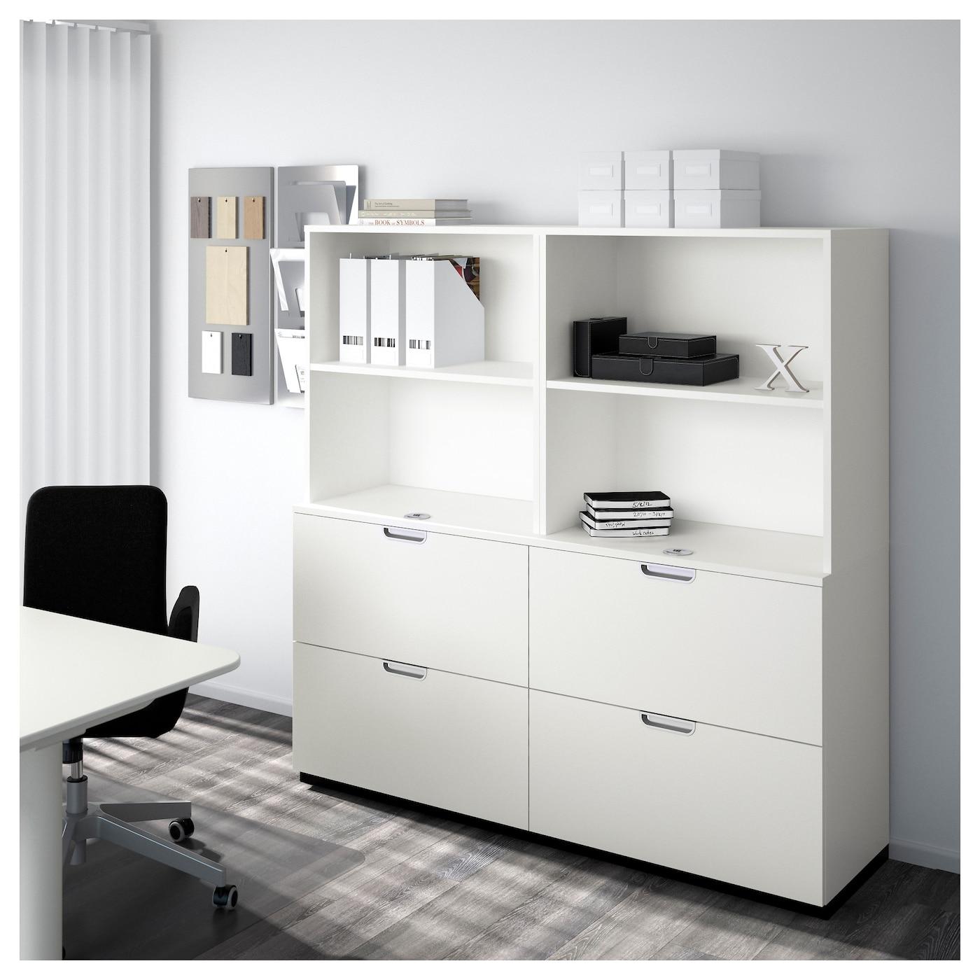 galant combinaison rangements av dossiers blanc 160x160 cm ikea. Black Bedroom Furniture Sets. Home Design Ideas