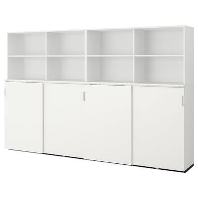 GALANT Combinaison rgt ptes coulissantes, blanc, 320x200 cm