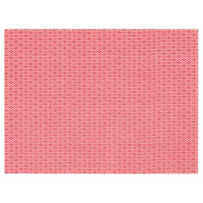 GALLRA Set de table, rouge/à motifs, 45x33 cm