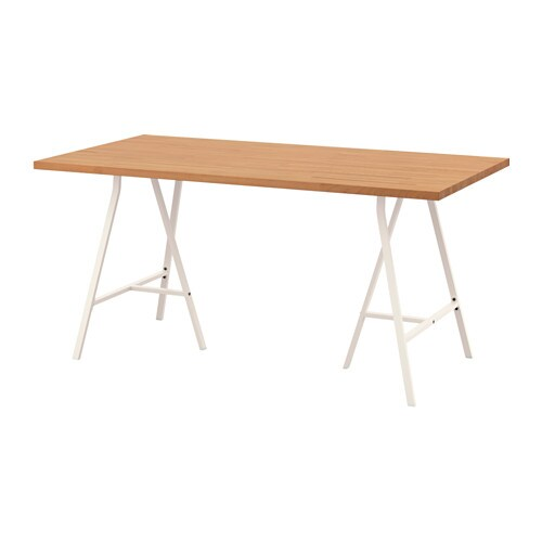 GERTON/LERBERG Table Hêtre/blanc 155 x 75 cm - IKEA